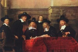 Rembrandt: Predstavenstvo súkenníckeho cechu
