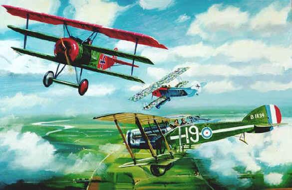 Rozvoj aviatiky sa uberal zároveň s vojnou